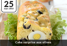 Cake surprise aux olives