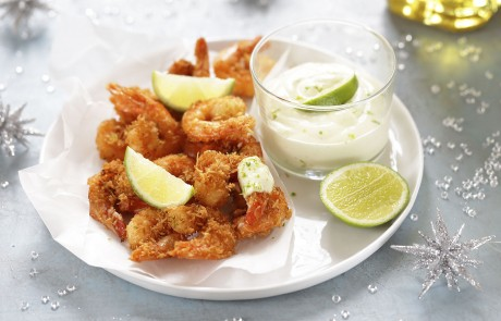recette_tramier_edda_onorato_crevettes_croustillantes_coco_mayonaise_citron_vert_huile_olive_vierge_extra_partage_facebook